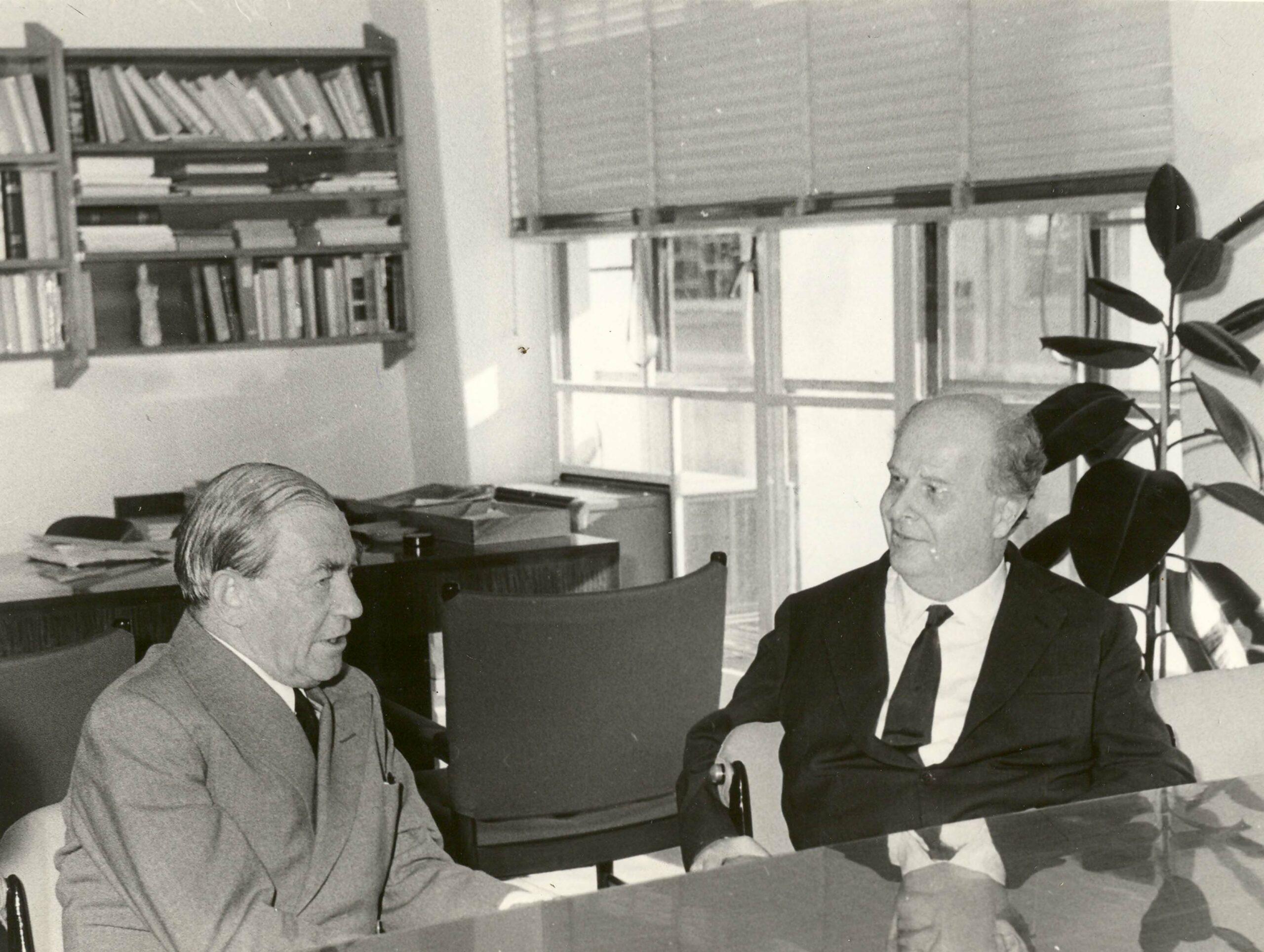 Adriano Olivetti e Alvar Aalto