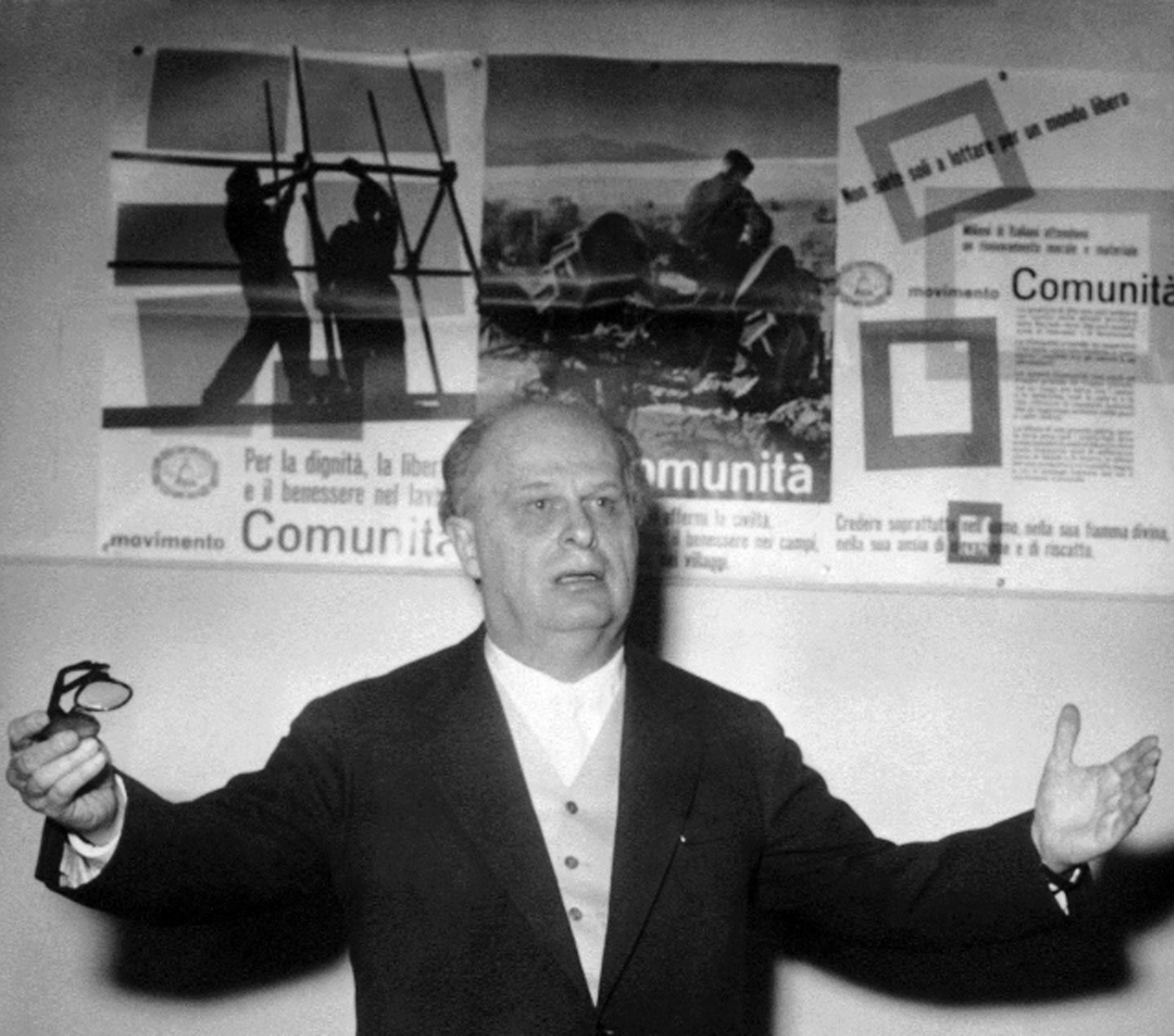 Adriano Olivetti nel Centro Culturale di Porta Pinciana a Roma