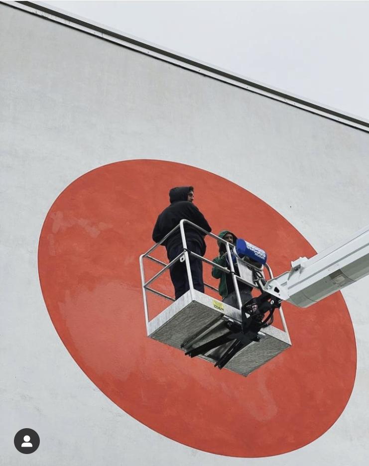 street art Olivetti invisible Ivrea